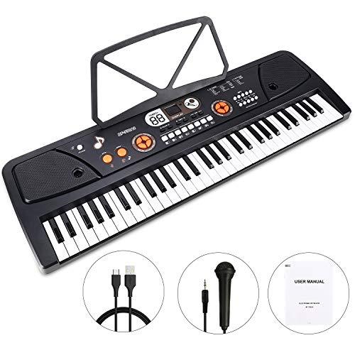 WOSTOO Teclado Electrónico Piano 61 Teclas