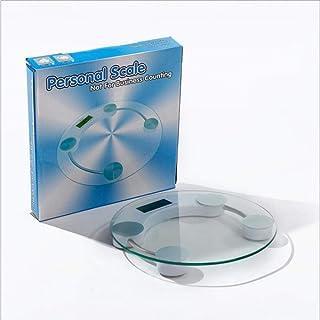 Hummla Balanzas electrónicas Báscula doméstica Báscula de Salud para el Cuerpo Básculas de Vidrio Templado Precisa li Pin Cheng Báscula de batería, 27 4 26 5 cm