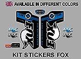 Pegatinas Fox Float 32 PDA02 Stickers AUFKLEBER Decals AUTOCOLLANTS ADESIVI (Azul)