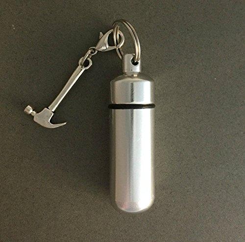 Photojewelrymaking Keepsake Cremation Carpenters Key Chain Memorial Vial Urn Ashes Holder Funeral Hammer Charm