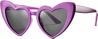 Kids Polarized Heart Shaped Sunglasses TPEE Rubber...
