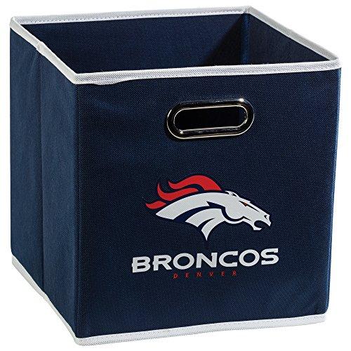 Franklin Sports NFL Denver Broncos Faltbarer Aufbewahrungsbehälter – NFL-Faltwürfel-Aufbewahrungsbehälter – passend für Mülltonnen-Organizer – Stoff NFL Team Storage Cubes
