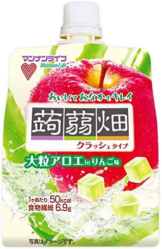 マンナンライフ 大粒アロエinクラッシュタイプの蒟蒻畑りんご味 1セット 18個