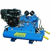 Jenny G9HGA-8P Single Stage Wheeled Portable Gasoline Engine Air Compressor with G Pump, 8 Gallon Tank, 9 HP