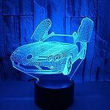 NSYW 3D Led Nachtlicht 7 Farben Licht Für Hauptdekoration Lampe Lamparas Auto Lava Lampe 3D Led Sensor Kid Licht USB Tischlampe