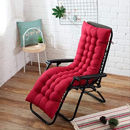 No Recliner Soft Back kussen Rocking stoel kussen Lounger Bank Tuin stoel kussen lang kussen 40x110cm Rode Wijn