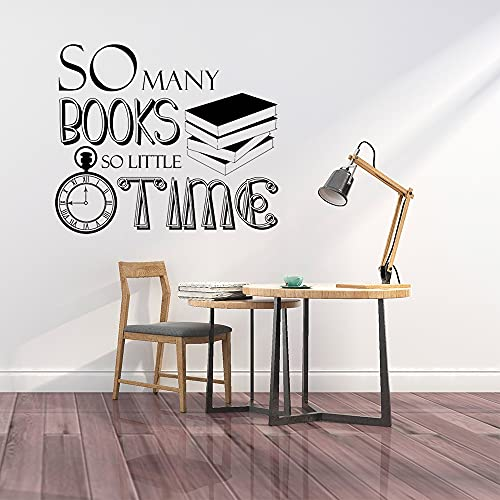 Księgarnia dekoracyjna książki za dużo czasu rzadko cytowane naklejki ścienne szkoła naklejki ścienne biblioteczka książka do czytania naklejki ścienne 70x60cm