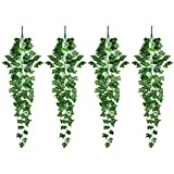 4 Piezas Plantas Artificiales Colgantes, Guirnalda de...