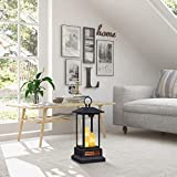 """Duraflame 28"""" Electric Lantern with Infrared Heat and Remote Control, Black Heaters, 01 (Renewed)"""