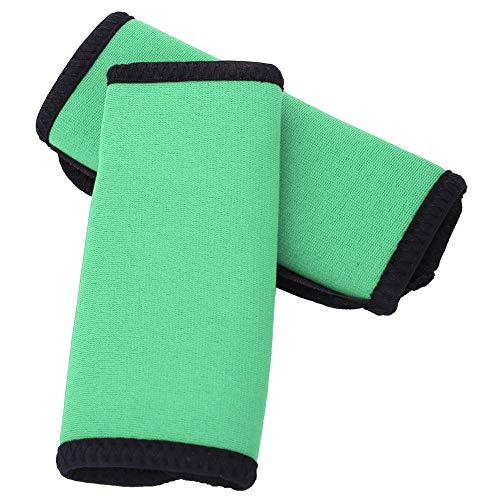Punhos de remo macios, Punhos de remo de neoprene, Punhos de remo de caiaque, canoa confortável para caiaque de uso externo(green)