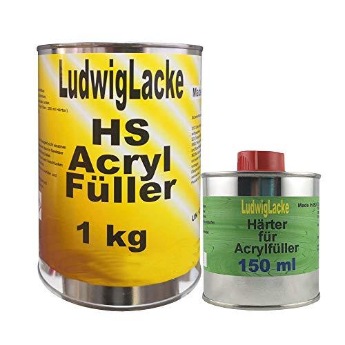 Acrylfüller 1,15kg grau Grundierung Rostschutz Haftgrund Füller Filler & Härter