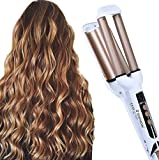 Curling Iron 3 Barrel 16mm Professional Hair Curler Curling Wand Deep Waver for Curly Hair with Adjustable LCD Display Ceramic Hair Waver Iron Hot Tools