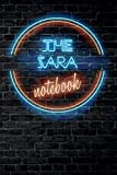 The ZARA Notebook: Vintage Blank Ruled Personalized & Custom Neon Sign Name Dotted Notebook Journal for Girls & Women. Wall Background. Funny Desk ... Supplies, Birthday, Christmas Gift for Women.
