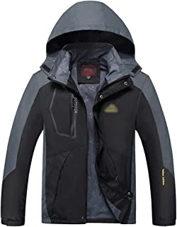 XFentech Men's Women's Jacket - Windproof Outdoor Warm Waterproof Jacket with Hood