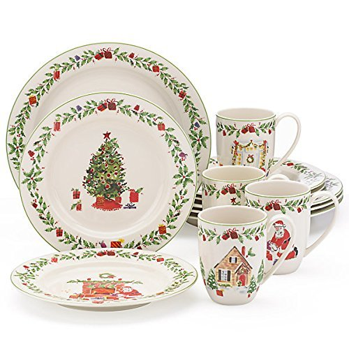 Lenox Holiday Illustrations 12 Pc Dinnerware Set