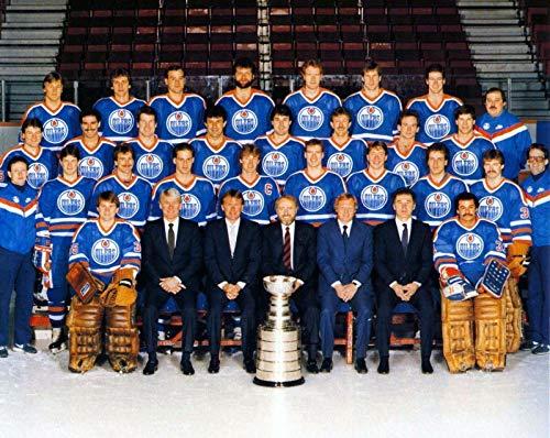 bucraft Edmonton Oilers 1983 Team Hockey NHL Fotodruck, 20 x 25 cm