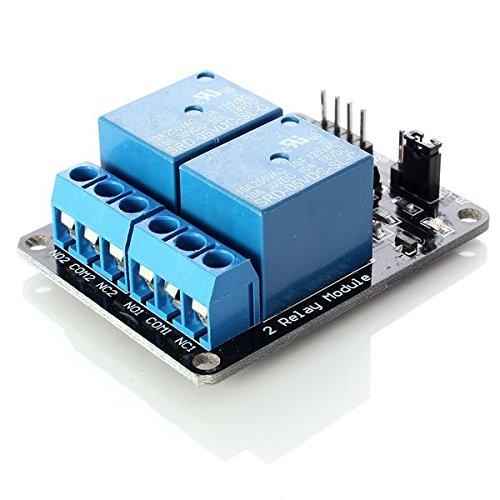 Neuftech 5V 2 Kanäle Relais Modul Relaiskarte für Arduino PIC AVR DSP MCU Relay Module
