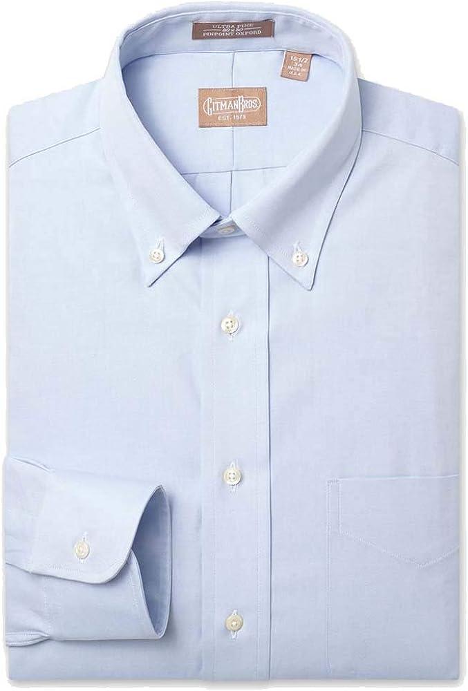 EZ Tuxedo Gitman Button Down Pinpoint Dress Ranking TOP4 Shirt Blue Light Ranking TOP6