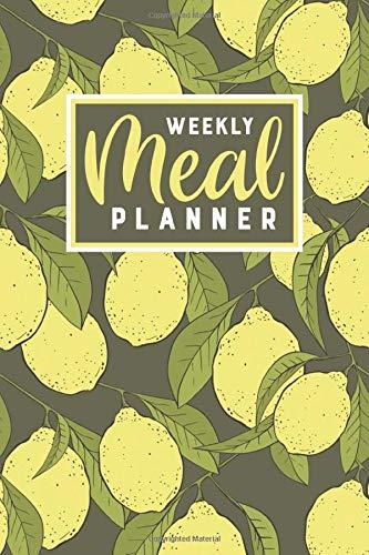 Weekly Meal Planner: 52-Week Menu Planner with Grocery Lists (Lemon Theme)