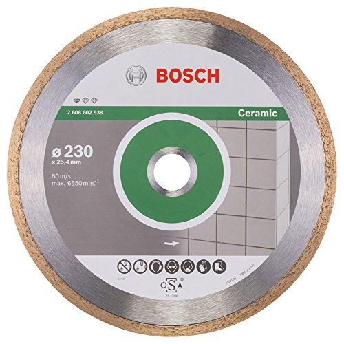 Bosch Professional Diamanttrennscheibe Standard für Ceramic, 230 x 25,40 x 1,6 x 7 mm, 2608602538