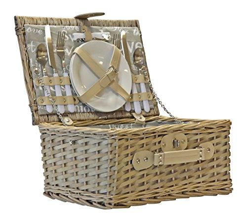 Elbmöbel picknickmand compleet porselein servies 2 personen wilgenmand picknickmand wilgentenpicknickmand picknickset