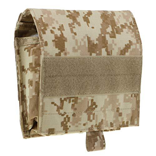 D DOLITY Sac à Bandoulière Militaire Sacoche de Taille Sport Camping Bagage Voyage Pochette - Camouflage Kaki, comme décrit