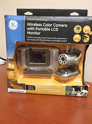 GE 45261 Portable 2.5-Inch LCD Monitor Wireless Analog Camera