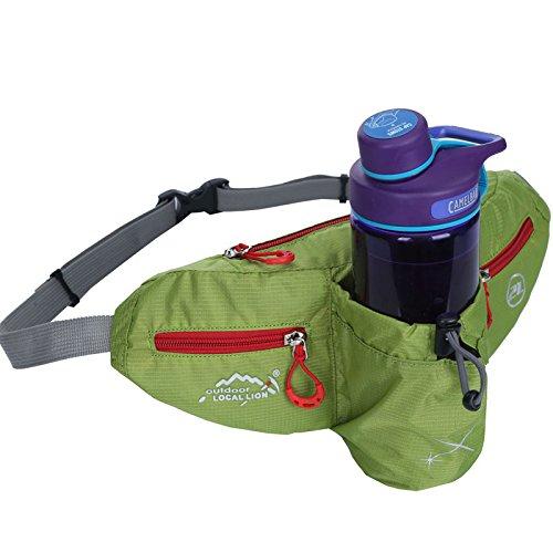 ZYT Sac de sports de plein air pour bouteille d'eau en cours d'exécution Pack hommes. bouteille d'eau poches poches alpinisme étroite ultra-mince léger féminin . green