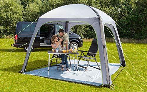 BERGER Pavillon Gazebo-L Deluxe 3x3m UV50+ grau aufblasbares Partyzelt Luftzelt Luftpavillon