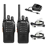 HESENATE HT-U666 Two Way Radio Long Range 16 CH Professional Transceiver LED Flashlight