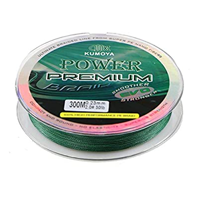 Lakii Classic 4 Strands Braided Fishing Line 100% Pe Multifilament Super Strong Japan Material -300m/328yds,500m/547yds-Multicolor Green Black by Lakii