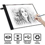 Lavagna,Scheda di copia a LED A4 con 3 luminosità regolabile Disegno Light Pad con cavo USB,Art Craft Drawing Tracing Tattoo Board per artisti, disegno, animazione, schizzi, progettazione