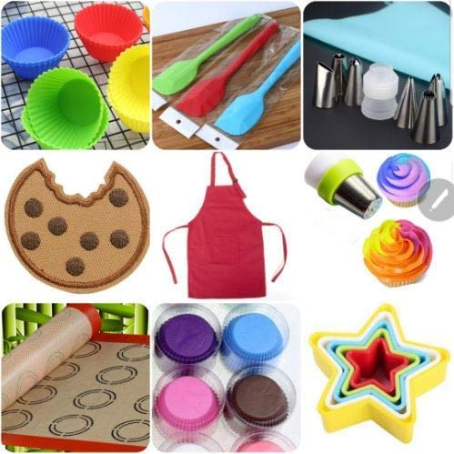 Internets Best Baking Bundle - Cookie & Cupcake Baking/Decorating Gift - 9 Total Items - Star Cookie Cutters - Three Bag Cupcake Decorating Tool & more!!
