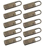ADICOM 10 Pcs Zipper Pull Tab Replacement Universal Detachable Zipper Puller Set Wide Waistbands Elastic Waist Tag for Jacket Coat Clothing Boot Gun Black
