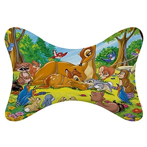 Bambi - Almohada de cuello para coche, 2 unidades, espuma viscoelástica, universal, suave, transpirable, para relajar el cuello