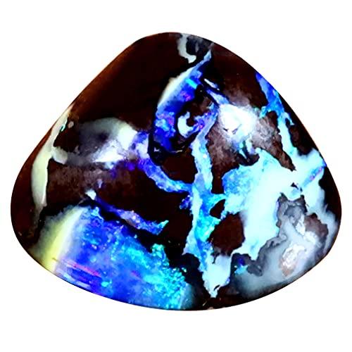 ボルダーオパール ルースストーン 3.61 ct Fancy Shape (12 x 10 mm) Multi Color Australian Koroit Boulder Opal Natural Loose Gemstone