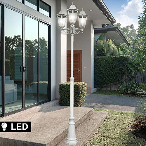 Außen Leuchte Kandelaber Steh Lampe Stand Beleuchtung Laterne im Set inklusive LED Leuchtmittel