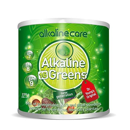 ALKALINE GREENS GREEN SHAKE (gemalen van 16 groenten, kruiden en planten) 220 g pot