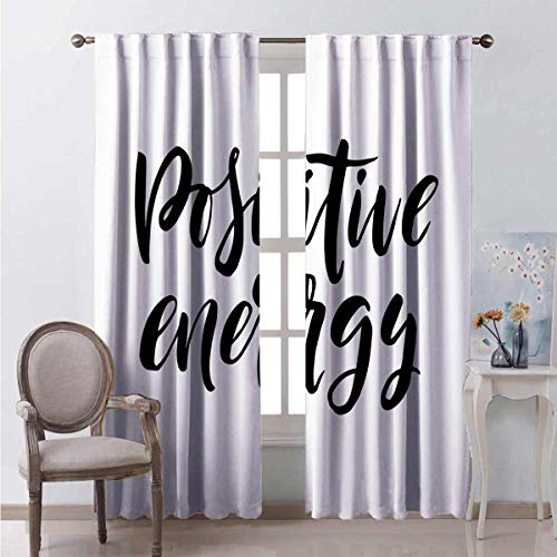 June Gissing Cursive Vibe Curtains Indoor Darkening Curtains W55 x L63 Pair of Curtains in Darkened Room