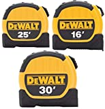 Dewalt DWHT3610579 16ft. 25ft. and 30ft. Tape Measure Combo Pack, Yellow/Black
