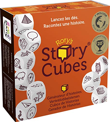 Asmodee- Rory's Story Cubes Original Gioco da Tavolo, Colore Arancione, ASMRSC01ML2