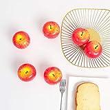 JUSTOYOU Mele finte realistiche, Mele Rosse Artificiali Set di Frutta per la Cucina Domestica Fotografia di Decorazioni per Feste di Matrimonio 6 Pezzi