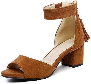 BalaMasa Womens ASL06656 Pu Block Heels