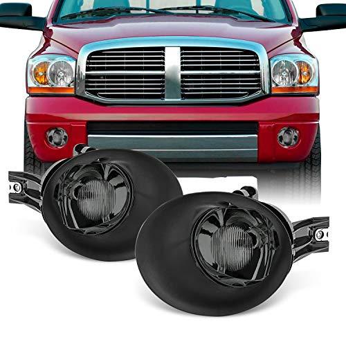 For 02-08 Dodge Ram 1500 2500 3500 Smoked Lens Bumper Driving Fog Light Lamp W/Bulb