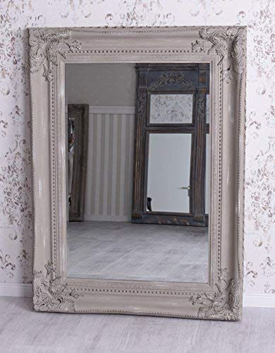 Chateau Wandspiegel Rokoko Spiegel Puder Shabby Chic Prunkspiegel Palazzo Exklusiv
