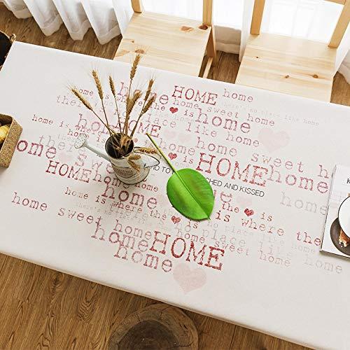 YCZZ Mantel, Mantel nórdico Impermeable, Mantel Grueso de algodón y Lino de Color sólido, Mantel Rectangular Liso, Mantel de café 100 * 140cm(Impermeable) Amor a casa