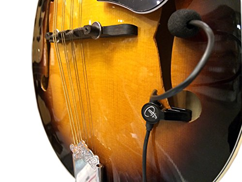 The Feather Octave Mandolin Pickup with Flexible Micro-Gooseneck by Myers Pickups