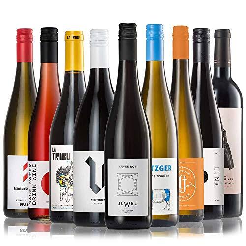 GEILE WEINE Weinpaket ALLSTARS (9 x 0,75l) | Trockener Weißwein, Rosé und Rotwein im Probierpaket | Wein von Winzern aus Deutschland, Frankreich und Portugal für jeden Geschmack
