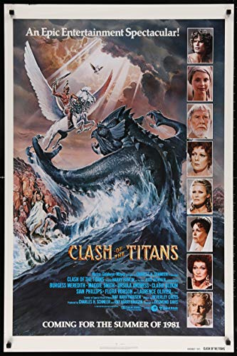 RPW Vintage Clash of The Titans Wall Art Movie Poster Art Decor pubblicità, A4