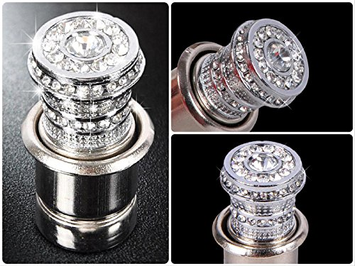 Crystal Bling Car Cigarette Lighter 12V, Bling Car Accessories, Rhinestone Auto Interior Accessory, Car Charger Decoration, Glam Car Decor